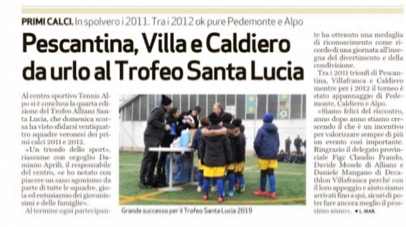 Trofeo Santa Lucia 2019